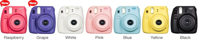 FujifilmInstax Mini 8, colori, Polaroid